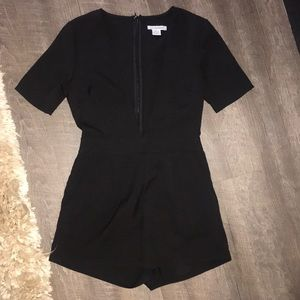 Nordstrom Low v neck shorts romper